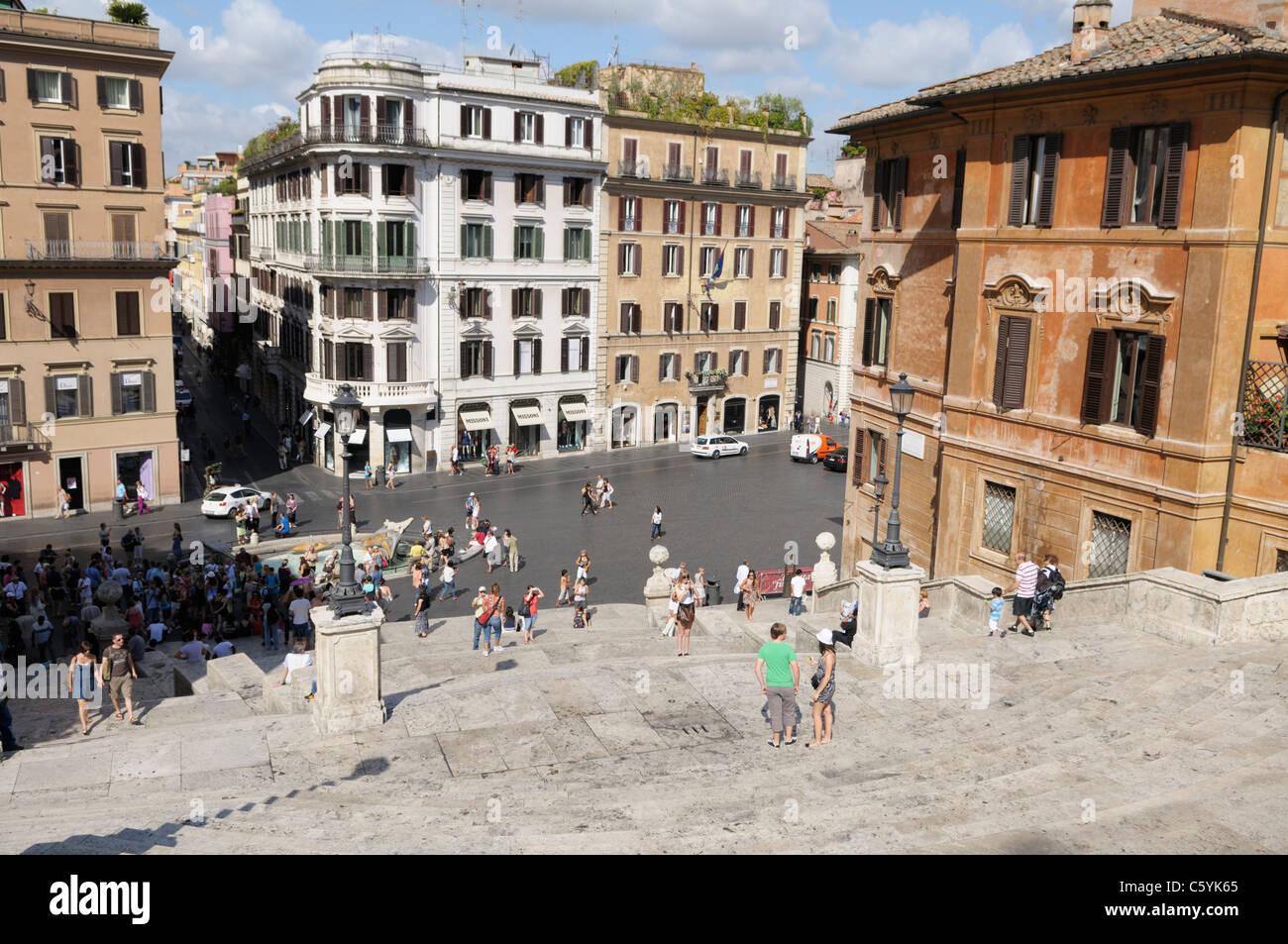 La Scalinata di piazza di Spagna, Roma Immagini Stock