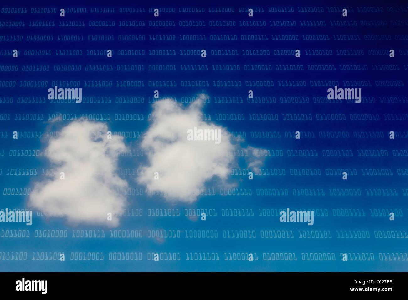 Il cloud computing concept Immagini Stock