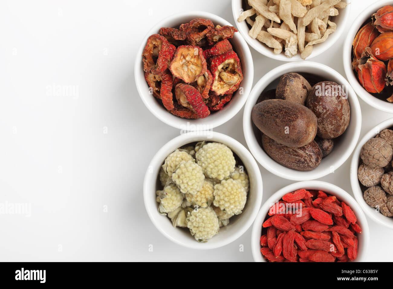 Assortimento di medicina tradizionale cinese Foto Stock
