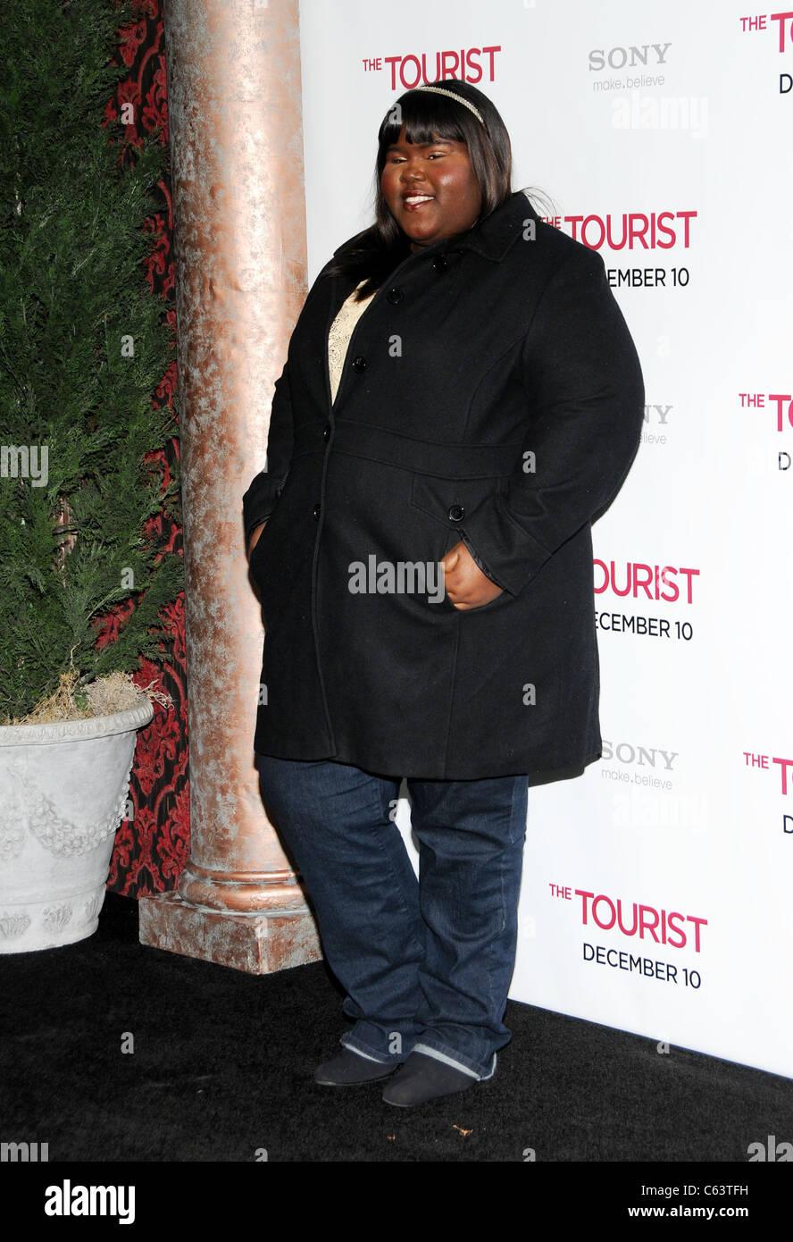Gabriel Sidibe presso gli arrivi per il turista Premiere, il Teatro Ziegfeld, New York, NY Dicembre 6, 2010. Foto Immagini Stock
