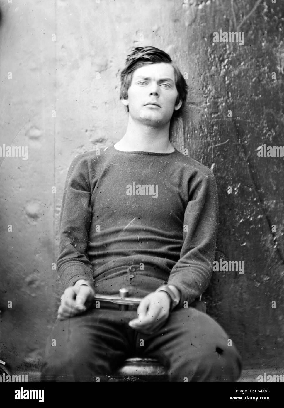 Thornton Lewis Powell, Lewis Paine, Lewis Payne, uno dei cospiratori nell'assassinio del Presidente Lincoln. Immagini Stock