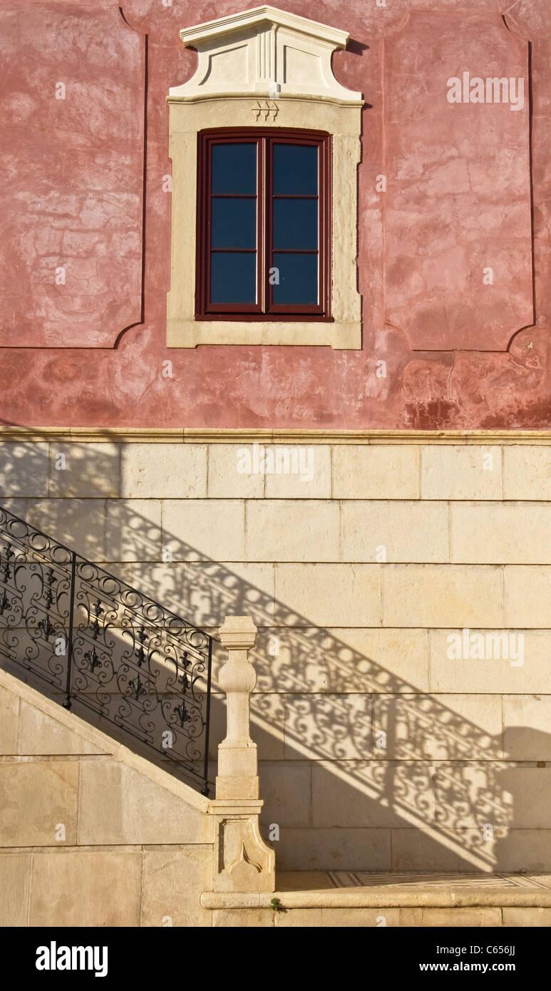 Dettaglio del Palácio de Estoi (C19) ora convertito in Pousada de Estoi (storico hotel), Estoi Faro Algarve Immagini Stock