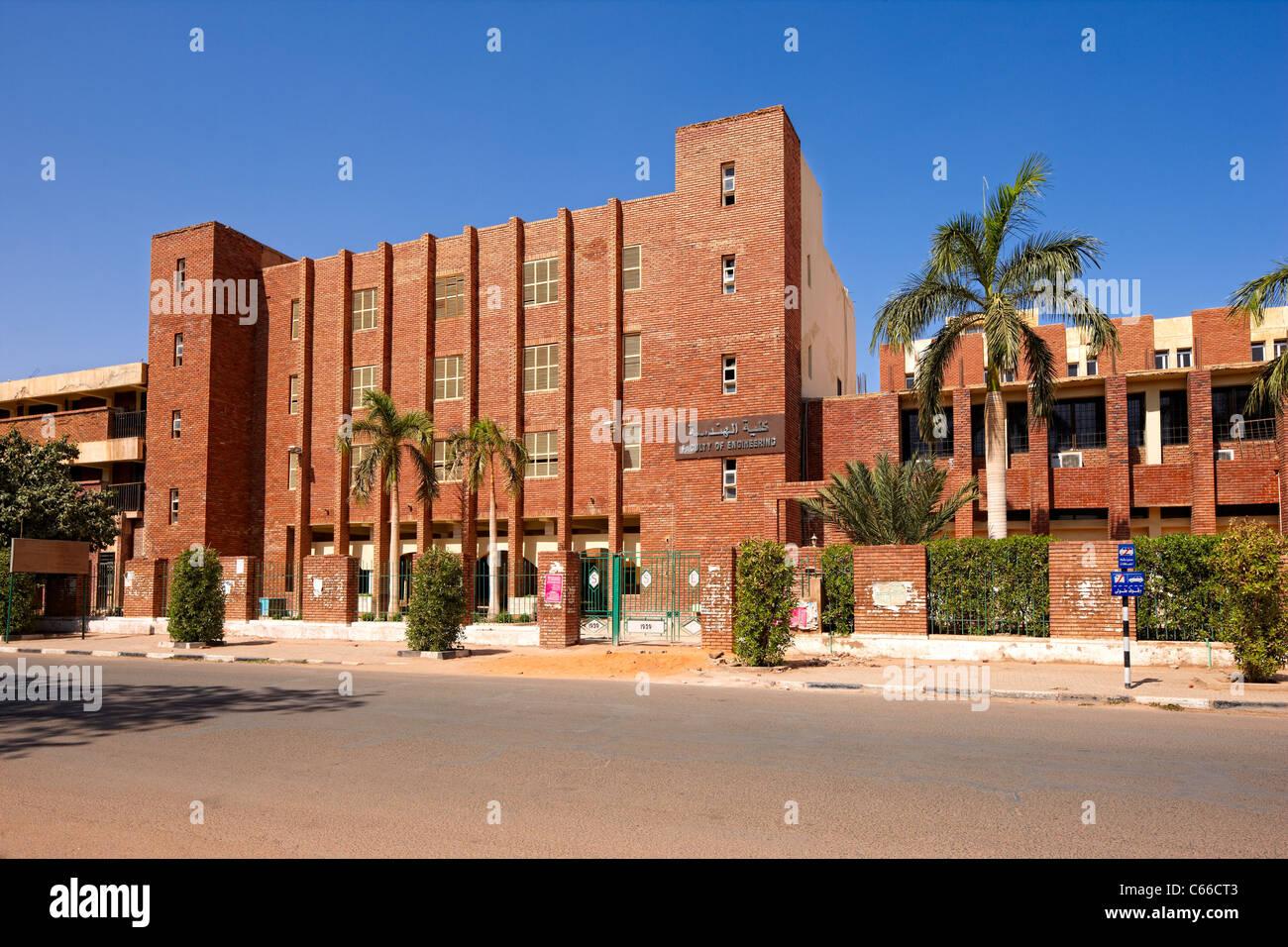 Facoltà di Ingegneria edificio, Università di Khartum, Khartoum, Sudan settentrionale, Africa Immagini Stock