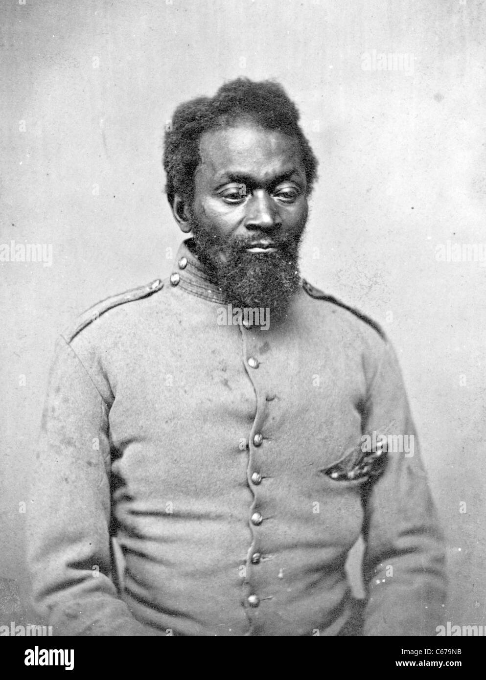 """""""Nick Biddle,' il primo uomo ferito al Great American ribellione, """"Baltimore, 18 aprile 1861' Immagini Stock"""
