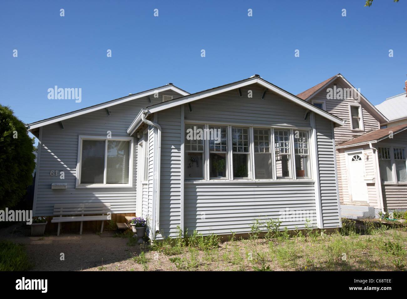 Vecchio stile rivestito di legno house di Saskatoon Saskatchewan Canada Immagini Stock