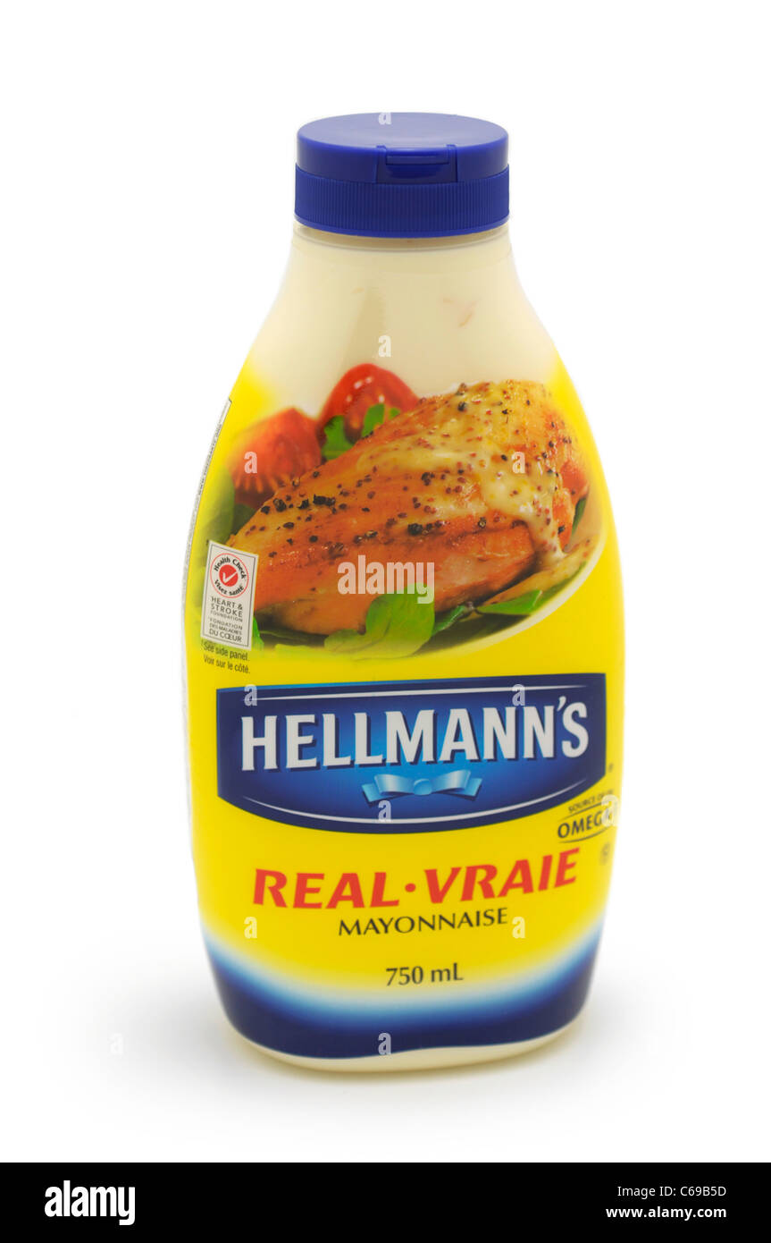 Bottiglia di maionese Immagini Stock