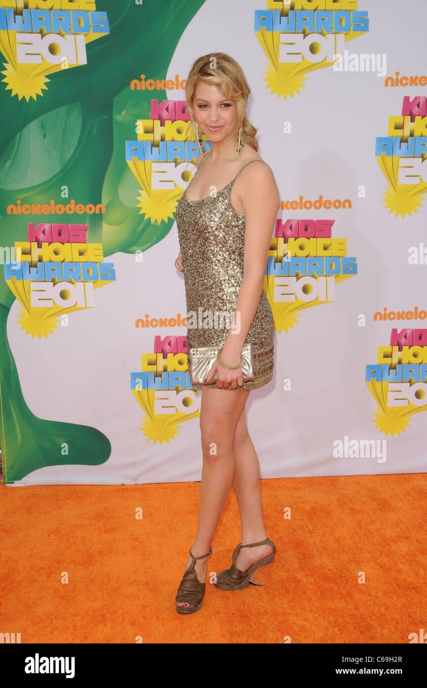 Gage Golightly presso gli arrivi per Nickelodeon la ventiquattresima edizione Kids Choice Awards - Arrivi, dell'USC Immagini Stock