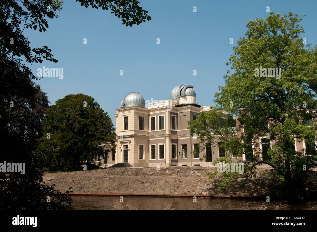 Sterrenwacht Leiden 1633 osservatorio astronomico parte della vecchia università 1575 (dove Albert Einstein Immagini Stock