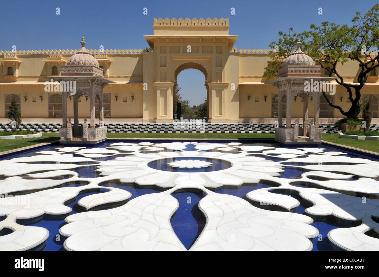 Ingresso Udaivilas Udaipur Rajasthan in India Foto Stock