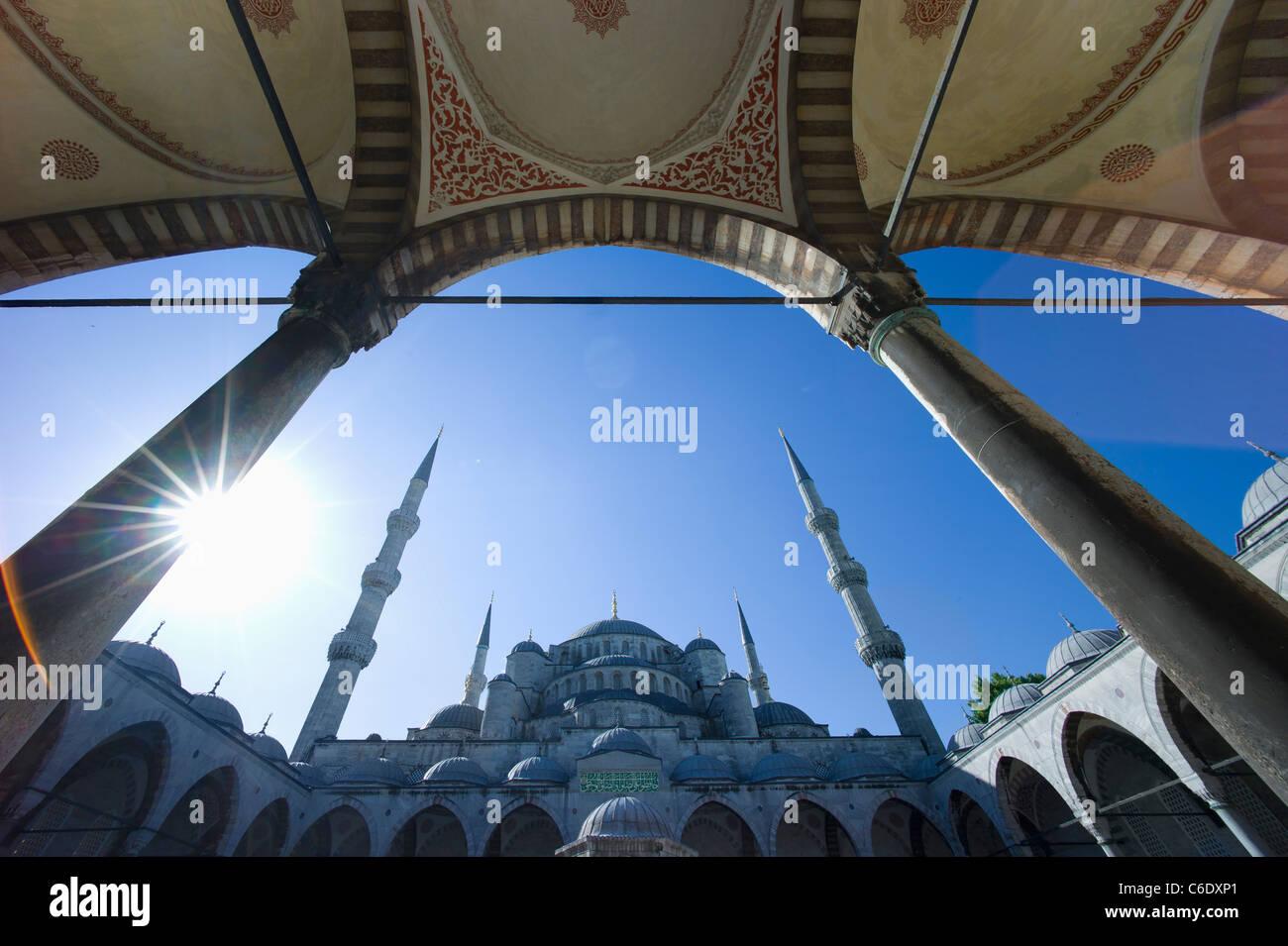 Turchia, Istanbul, Moschea blu Foto Stock