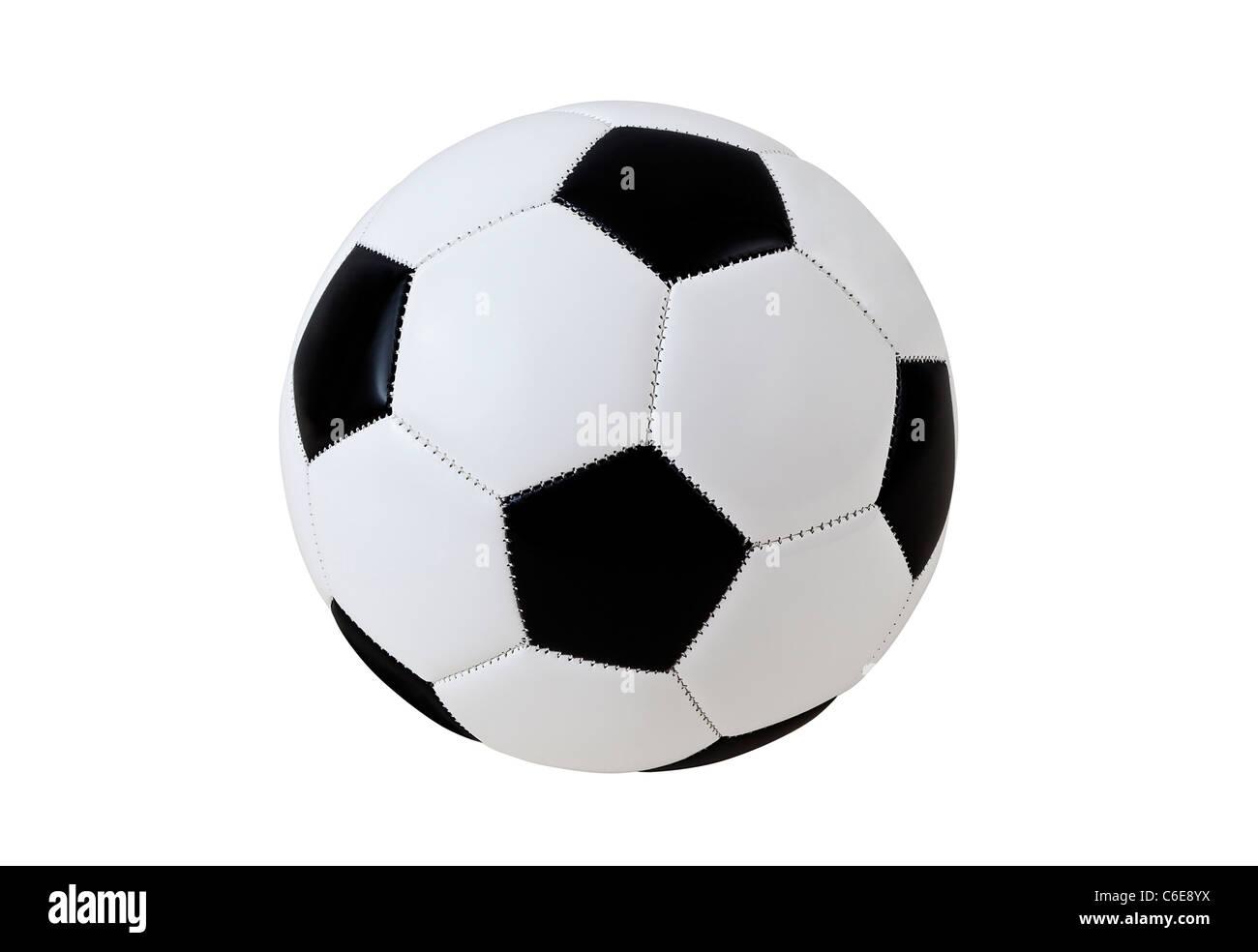 Pallone da calcio con tracciato di ritaglio Immagini Stock
