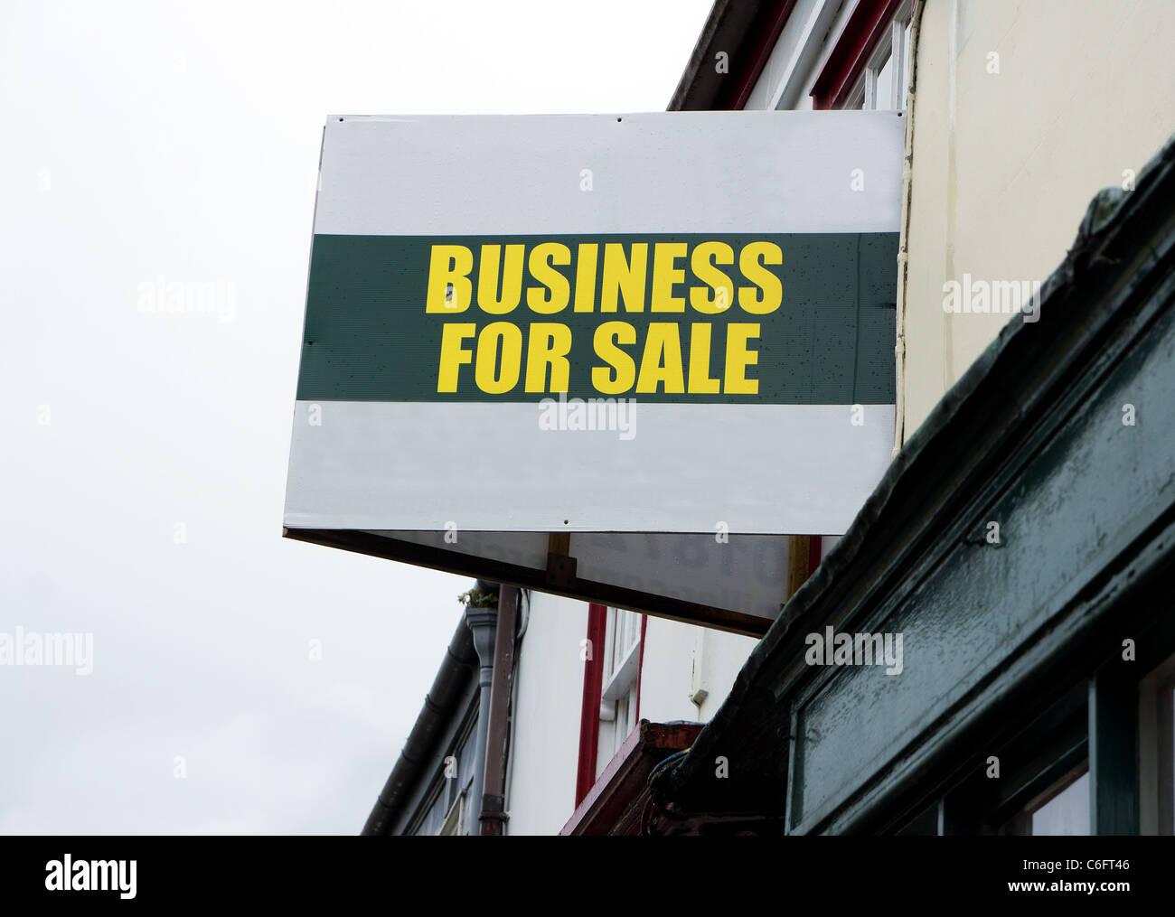 Un business per la vendita segno, Manchester, Regno Unito Immagini Stock