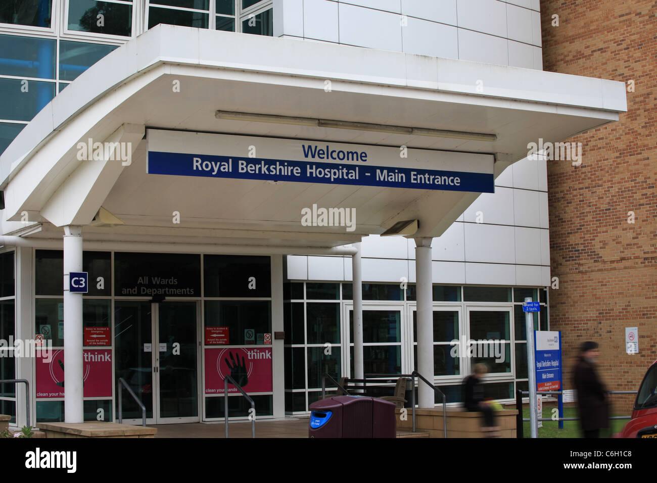 Royal Berkshire Hospital di lettura ingresso NHS Immagini Stock