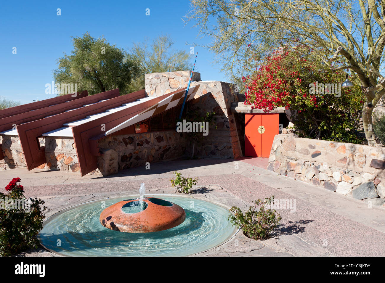 Taliesin West, Frank Lloyd Wright's Arizona home, Scottsdale, Phoenix, STATI UNITI D'AMERICA Immagini Stock