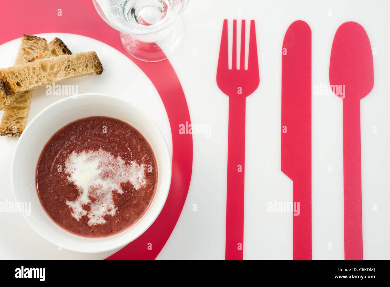 Di barbabietola e di zuppa di zenzero Foto Stock