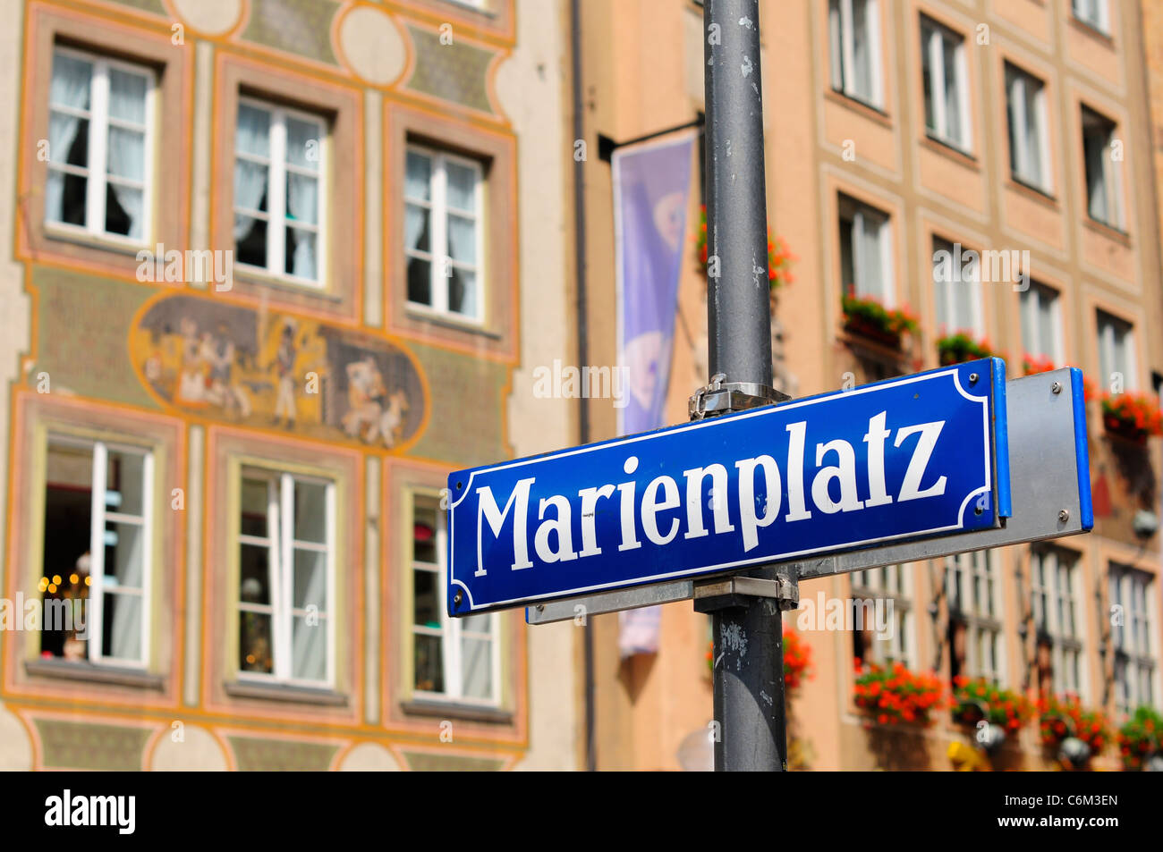 Piazza Marienplatz, Monaco di Baviera, Germania Immagini Stock