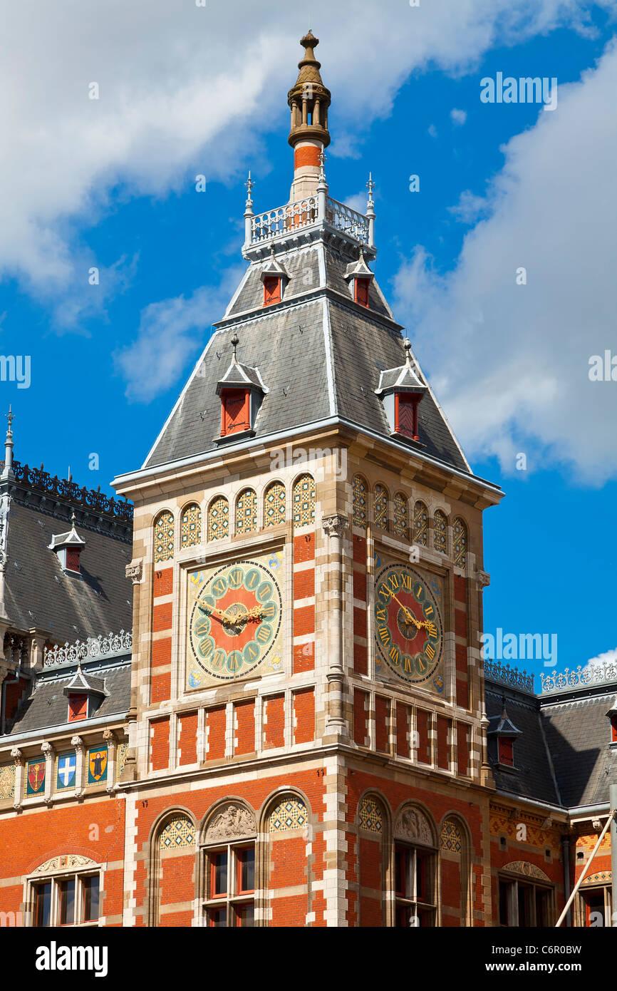 Europa, Paesi Bassi, Amsterdam Centraal Station Immagini Stock