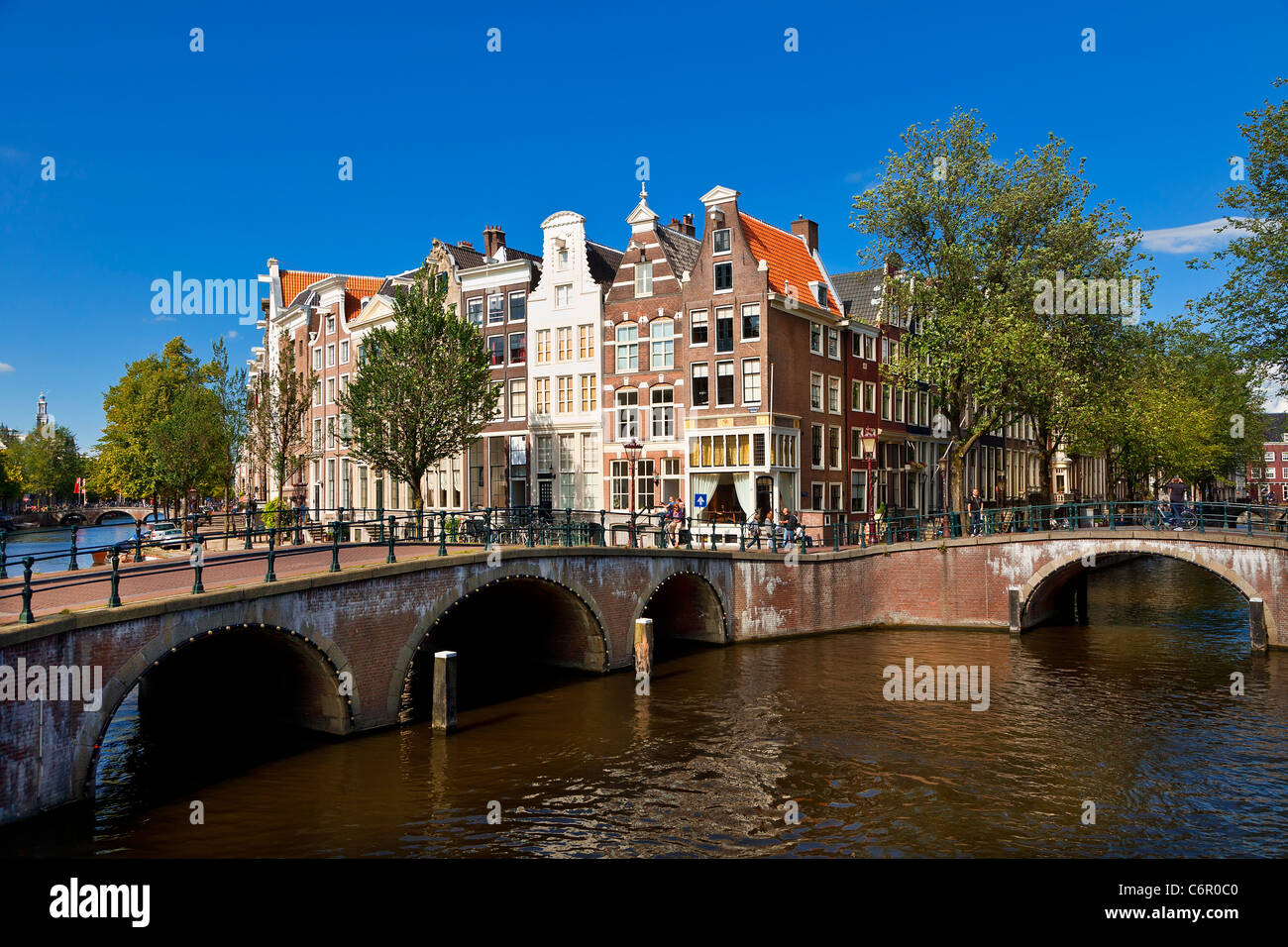Europa, Paesi Bassi, canale Keizersgracht in Amsterdam Foto Stock