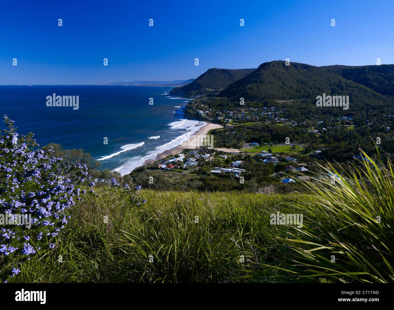 Costa sud NSW città di Stanwell Park Immagini Stock
