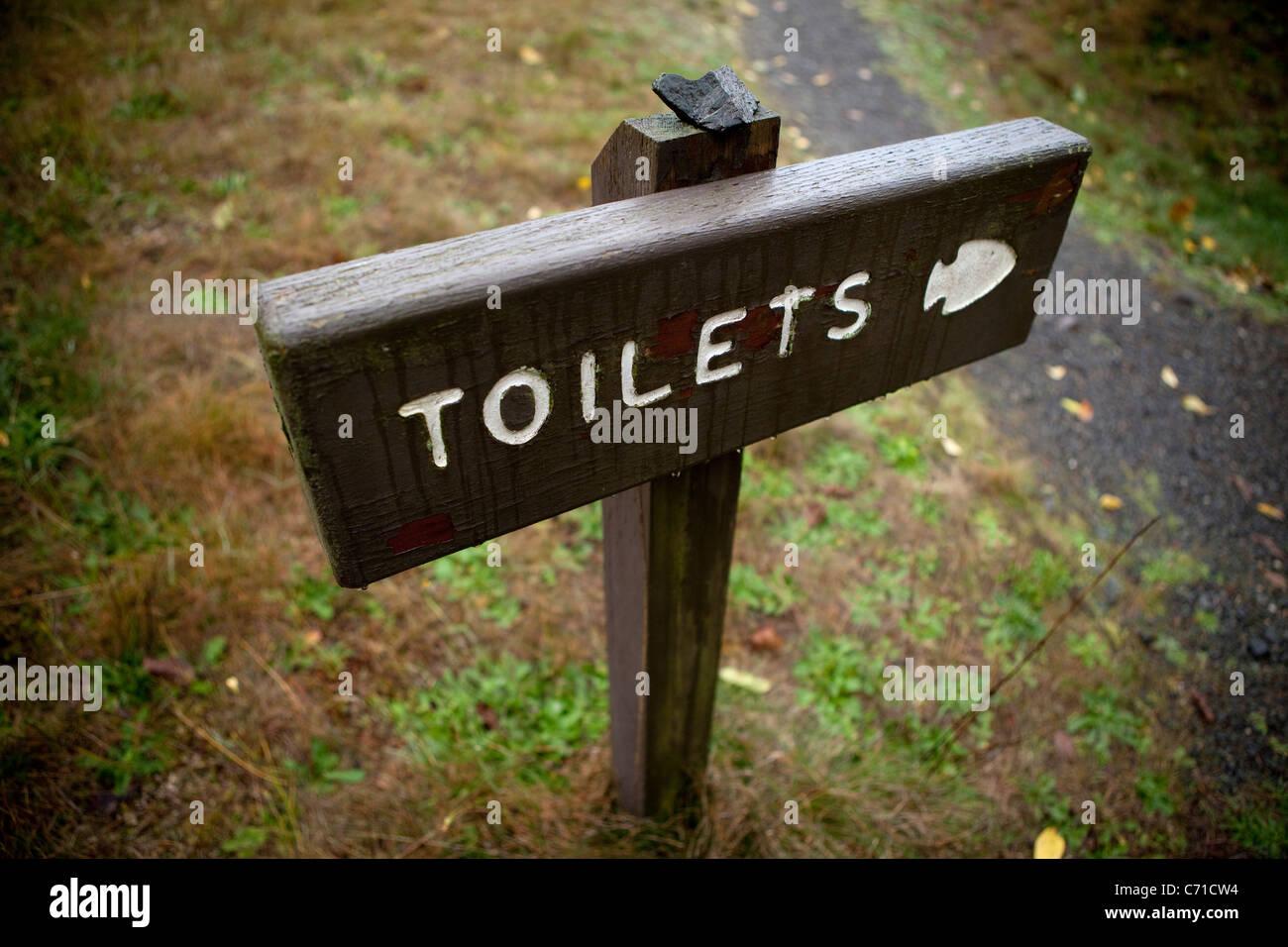 Segno di WC. Foto Stock