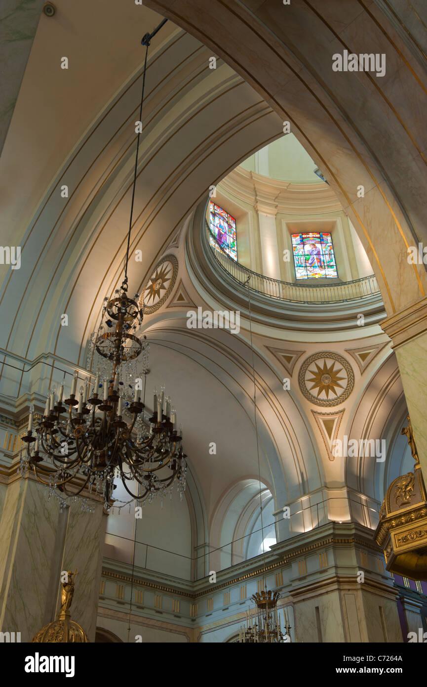 Catedral Metropolitana, interno, Plaza Constitucion, Montevideo, Uruguay Immagini Stock