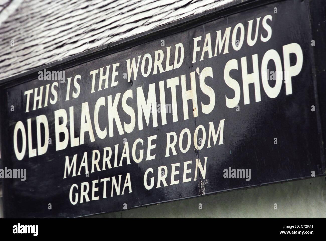Gretna Green Village in Scozia, casa romantica cerimonie di matrimonio per coppie di runaway e coppie romantiche. Immagini Stock