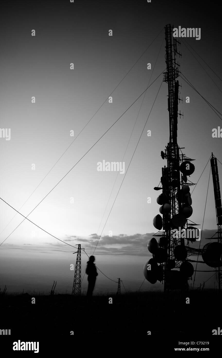 Abruzzo. L'Italia. Blockhaus. Grandi antenne di montagna Immagini Stock