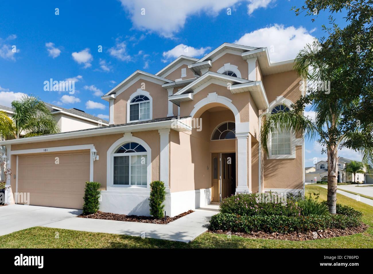 Tipica casa vacanze lusso in West Haven sviluppo, Davenport, Kissimmee, Orlando, Florida, Stati Uniti d'America Immagini Stock