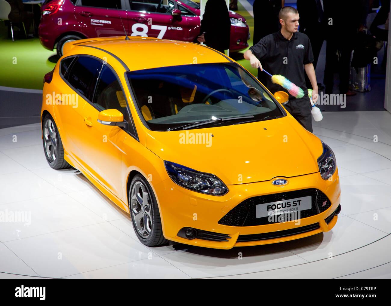 Nuova Ford Focus ST sulla IAA 2011 International Motor Show di Francoforte am Main, Germania Immagini Stock