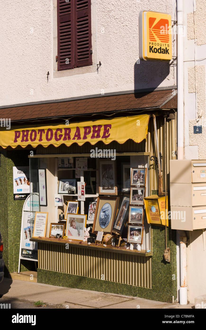 Fotografo del negozio in Le Mayet-de-Montagne, Francia Immagini Stock