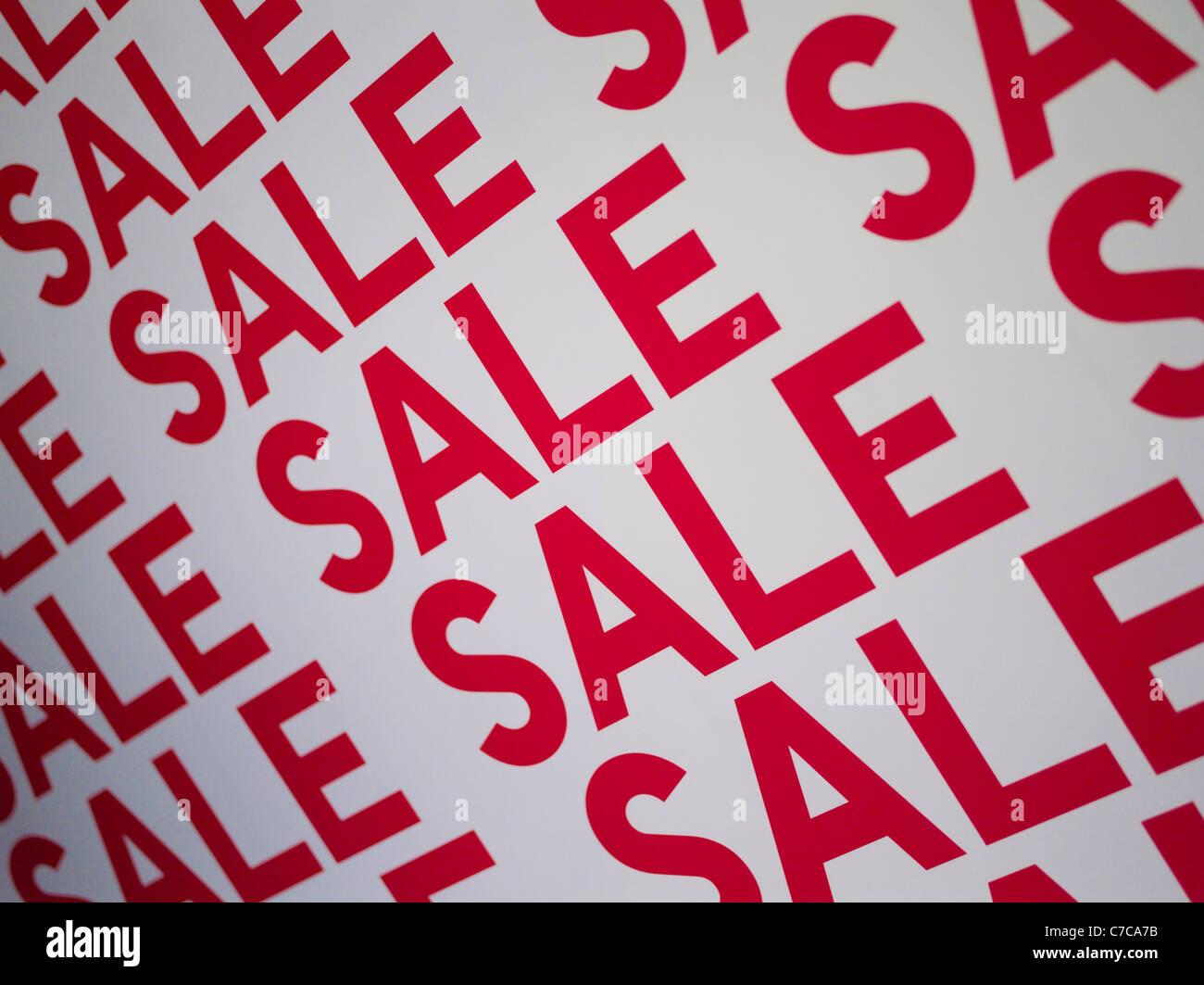 Segno di vendita Immagini Stock