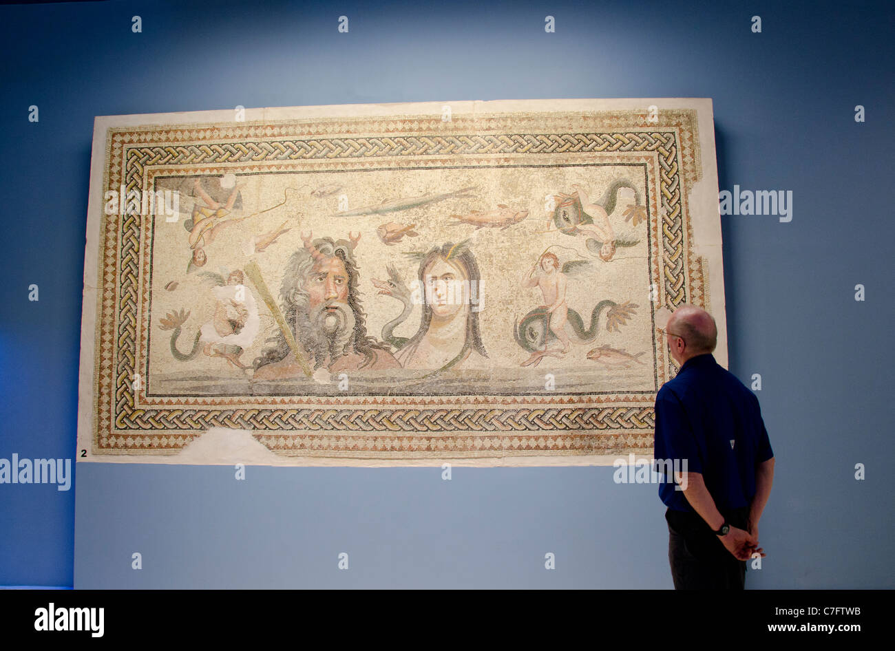 La Turchia, Anatolia sudorientale, Gaziantep. Zeugma Museo dei mosaici. Immagini Stock