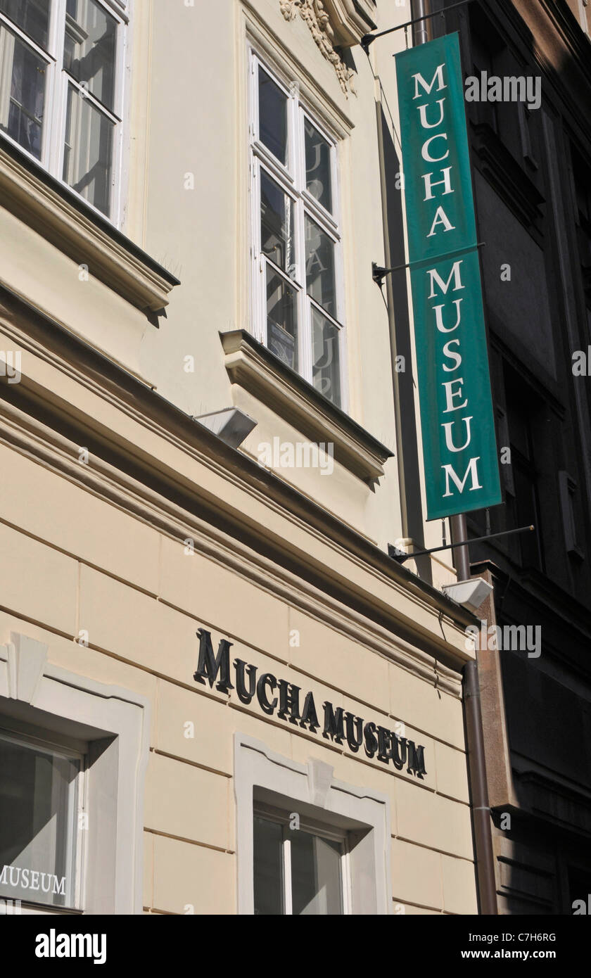 Mucha Museum Prague Praha Immagini Stock