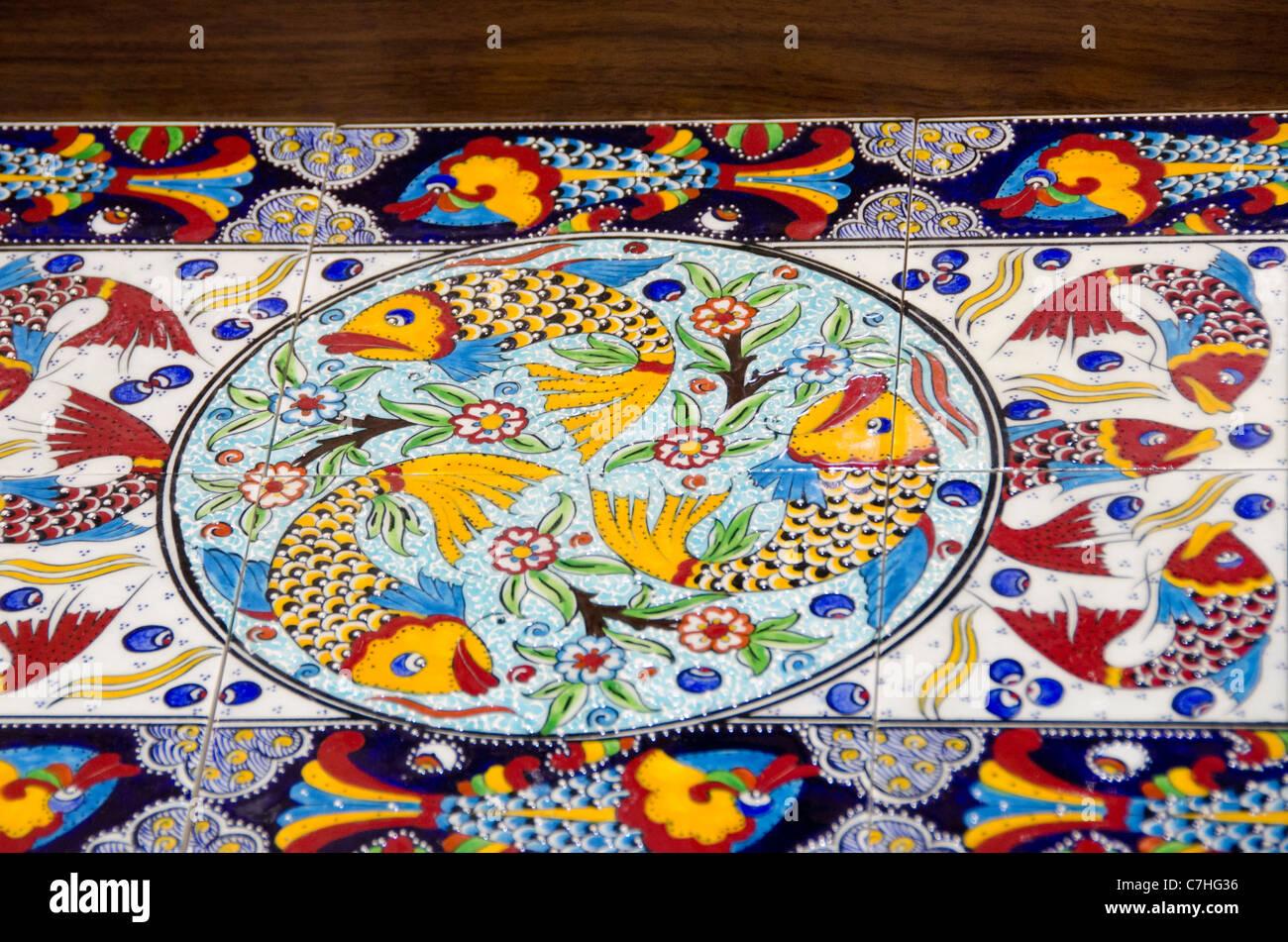 Turchia istanbul colorati dipinti a mano piastrelle turche con