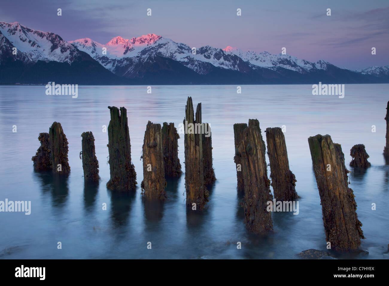 La risurrezione Bay, Seward, Alaska. Immagini Stock
