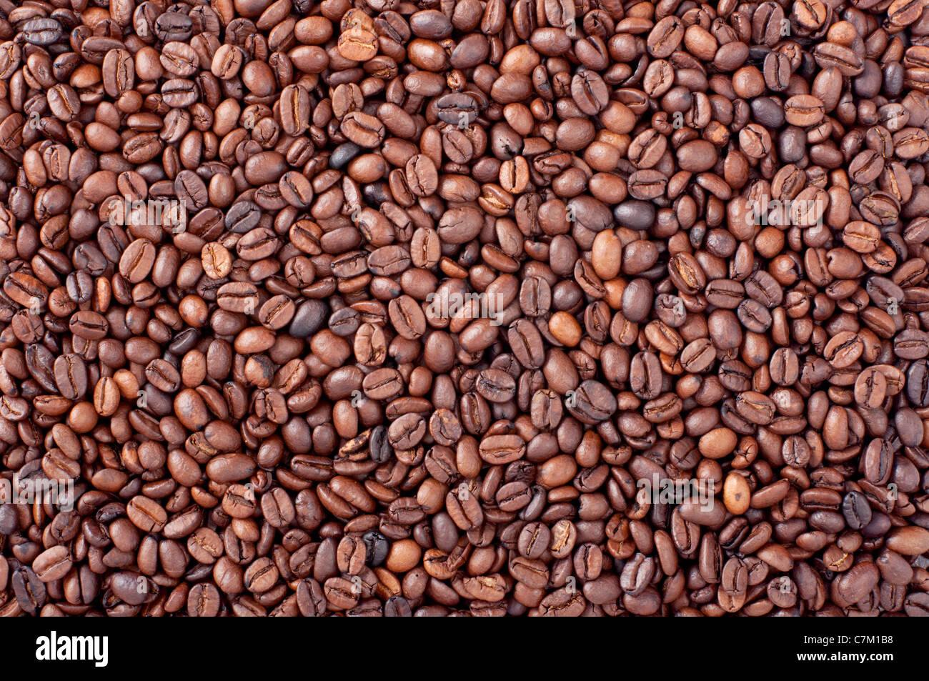Caffè tostato sfondo beens Immagini Stock