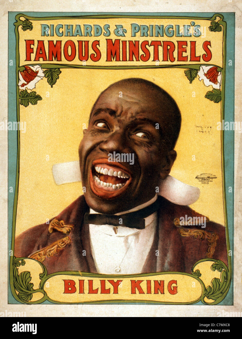 Richards & Pringle il famoso Minstrels Immagini Stock