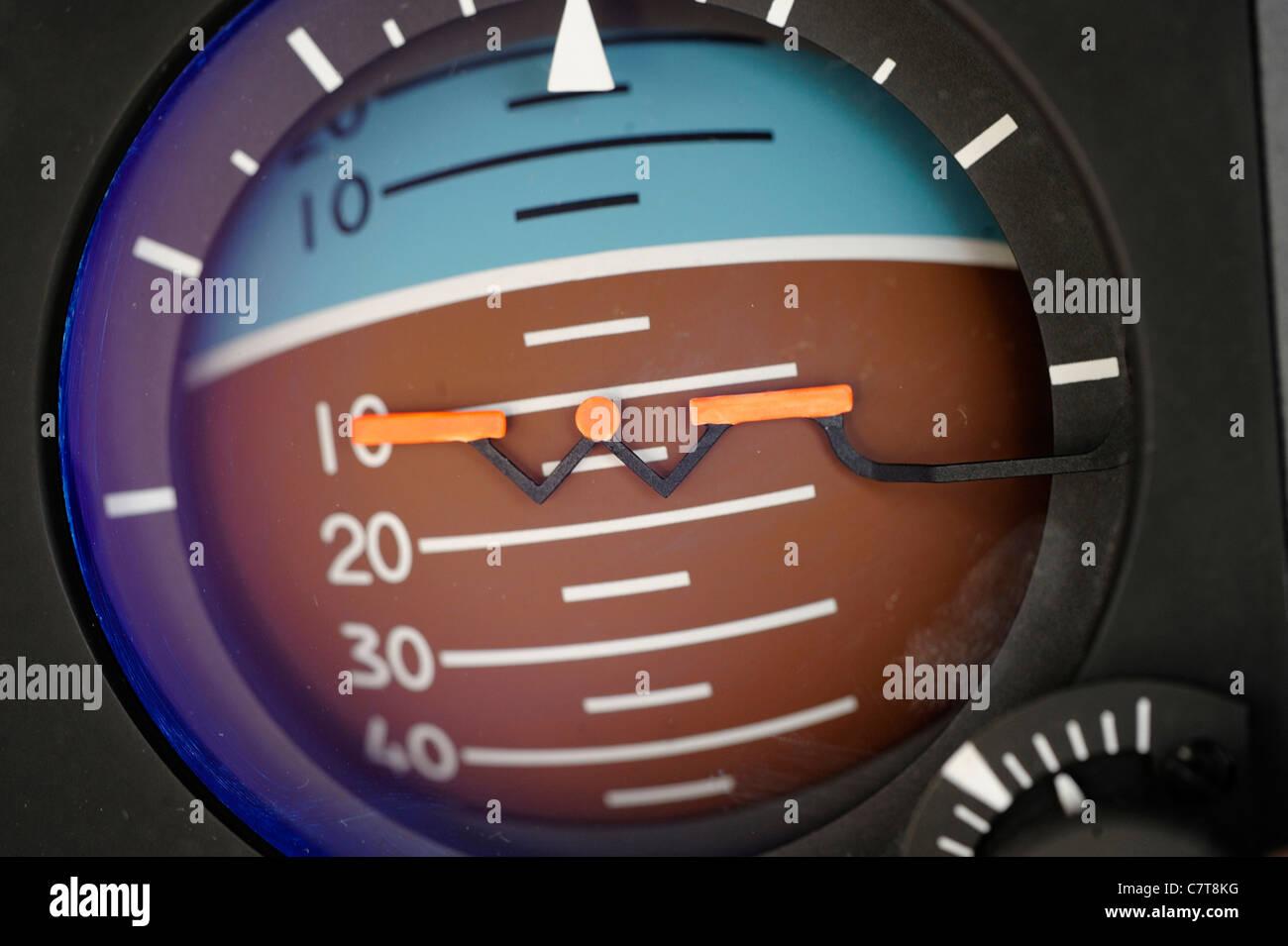 Orizzonte artificiale - in elicottero Immagini Stock