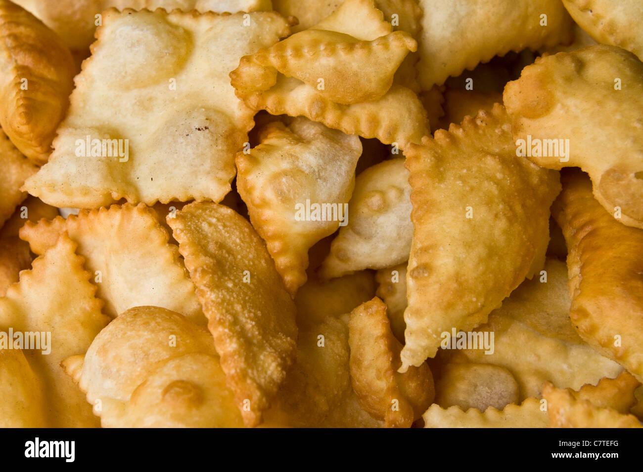 L'Italia, Emilia Romagna, Castelfranco Emilia, tipico gnocco fritto Immagini Stock