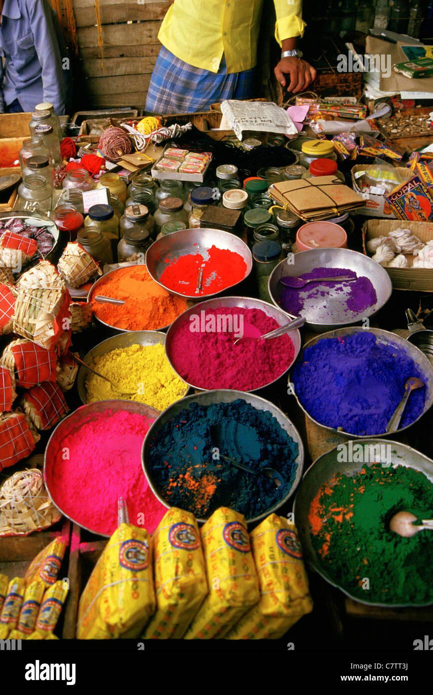 India Kerala, mercato delle spezie Immagini Stock