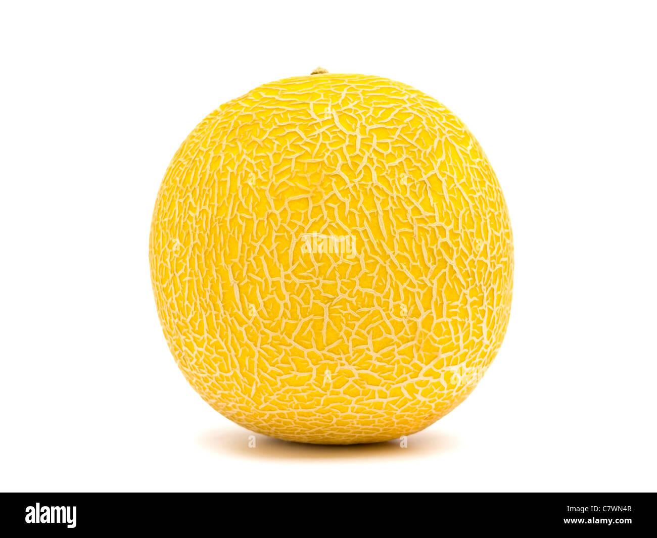 Il melone Cantalupo da vicino Immagini Stock