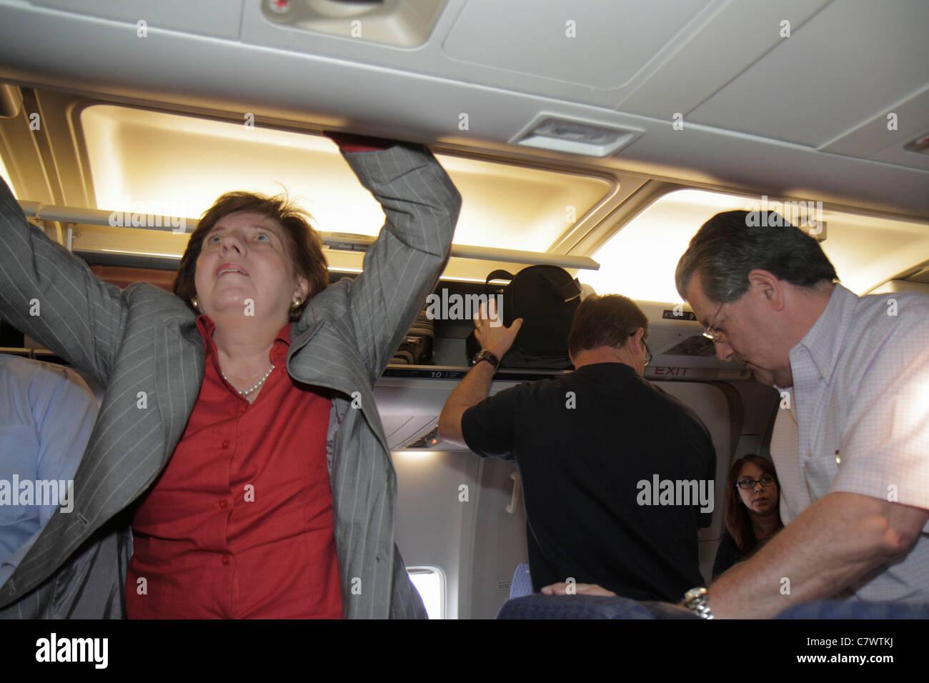 Managua Nicaragua Aeroporto Internazionale Augusto C. Sandino MGA cabina aerea arrivo sbarcare voli American Airlines Immagini Stock
