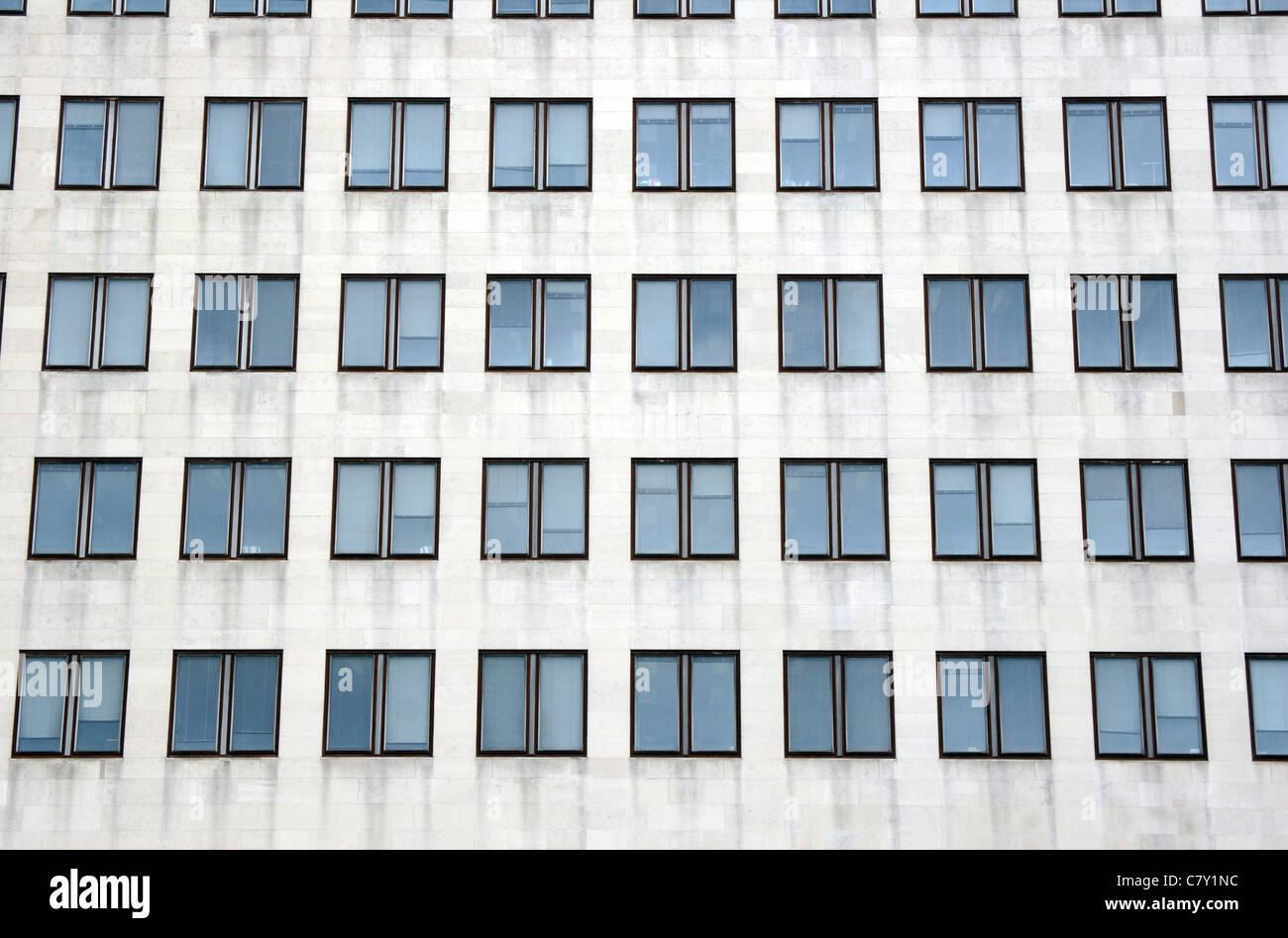 Blocco ufficio dettaglio, London, England, Regno Unito Immagini Stock