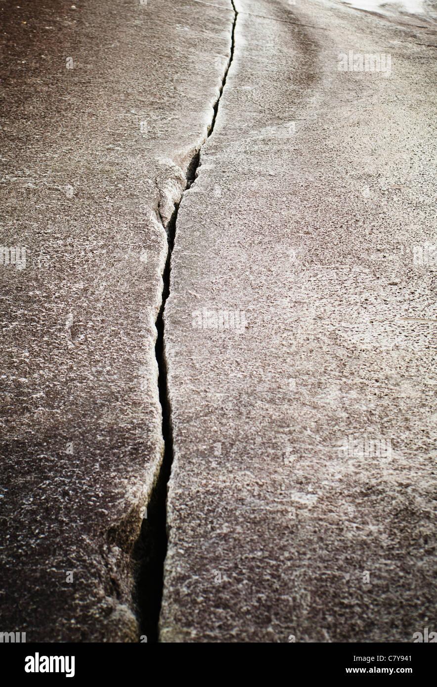 Klahanie Crack, un popolare media difficoltà arrampicata percorso presso le Cascate Shannon Parco Provinciale Immagini Stock