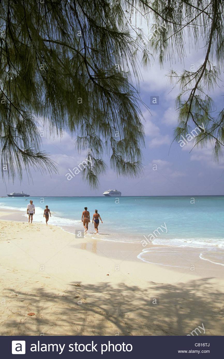 Grand Cayman, sette miglia di spiaggia Immagini Stock