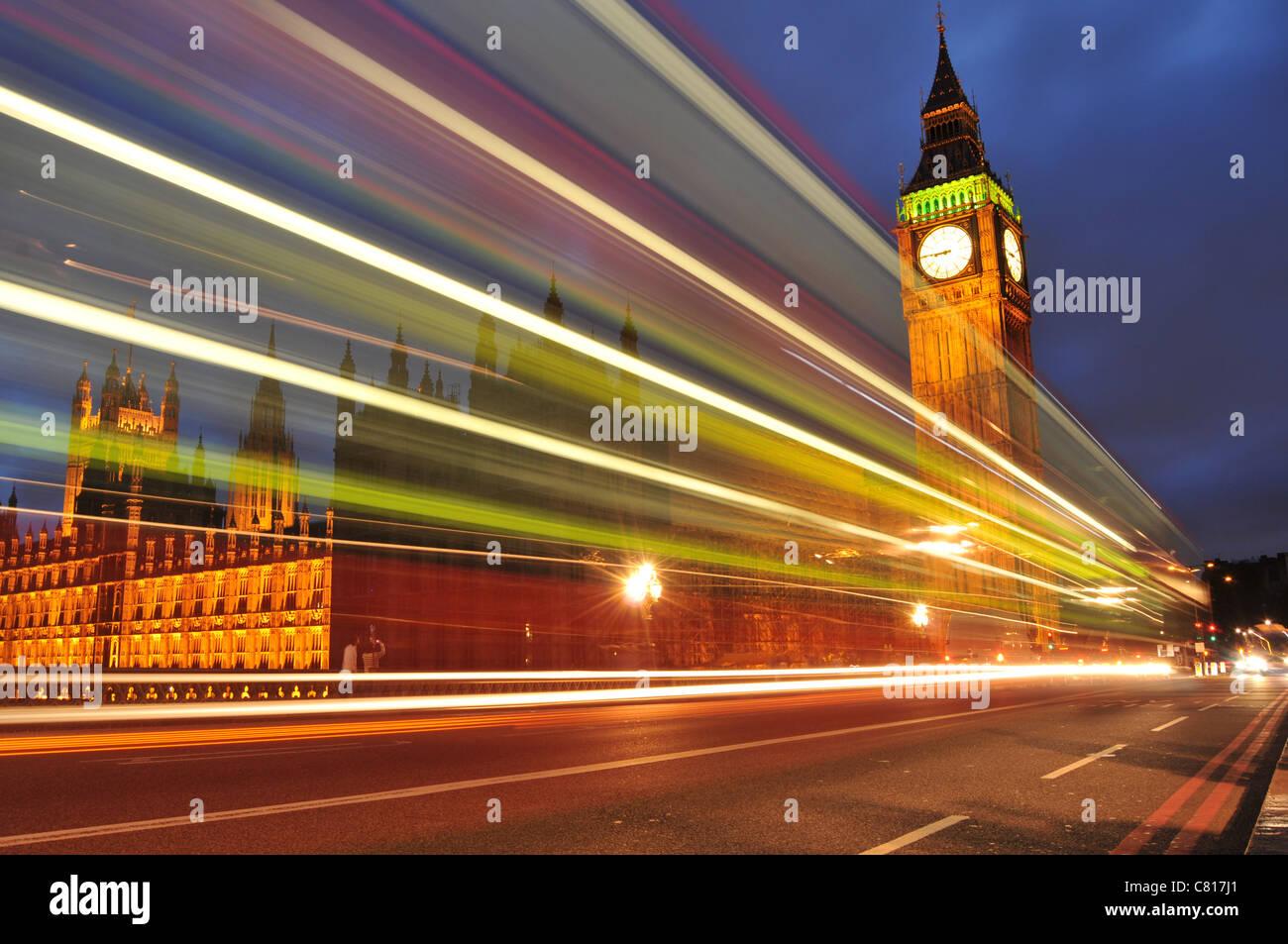 Londra di notte Foto Stock