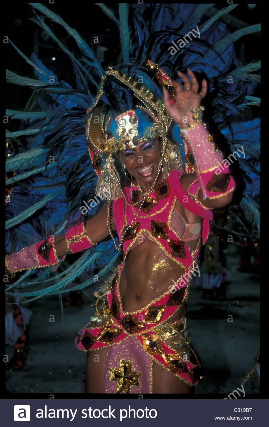 Il Brasile, Rio de Janeiro. Il carnevale Immagini Stock