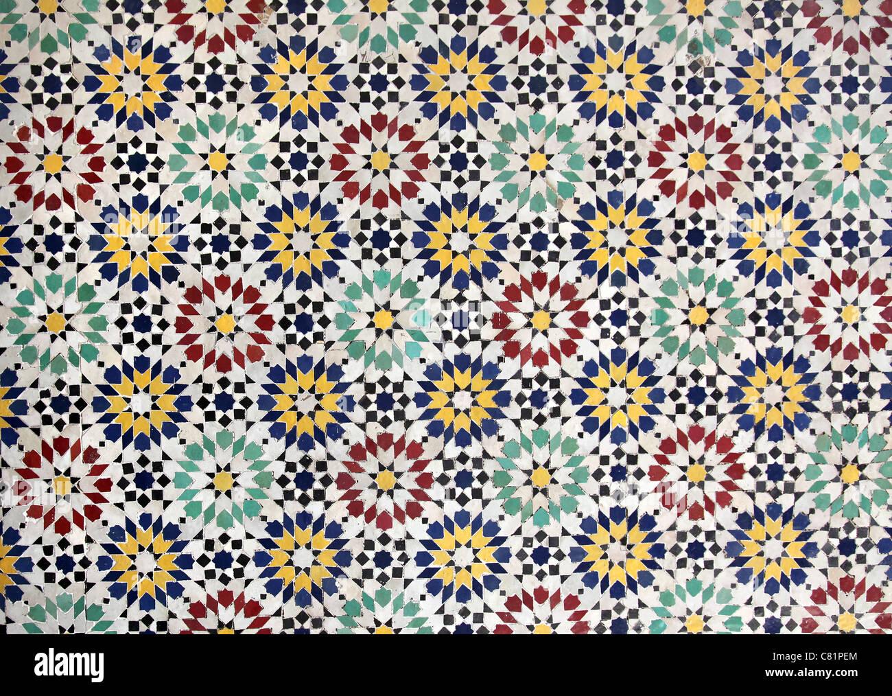Marocchina di piastrelle di ceramica foto immagine stock