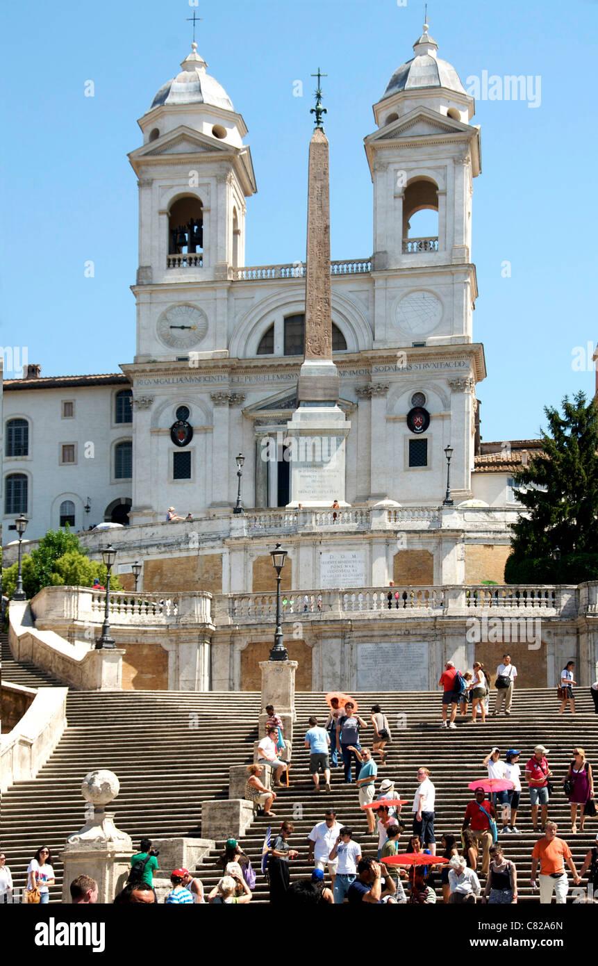 Piazza di Spagna, Scalinata di piazza di Spagna Roma, Italia, Europa Immagini Stock