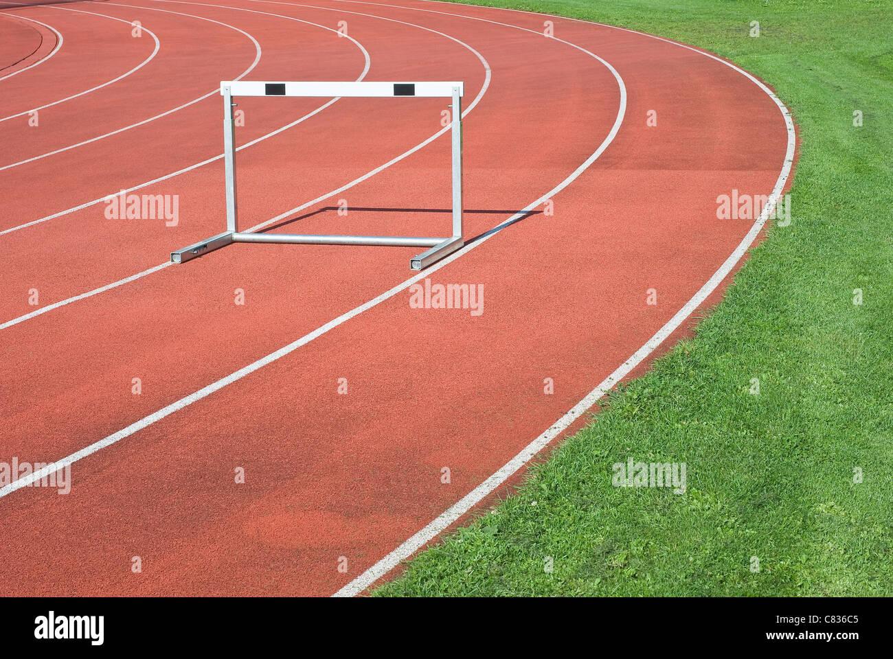 Atletica leggera come simbolo della determinazione del personale e la competitività Immagini Stock